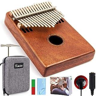 ZYZRYP Kmise Kalimba 17 Key Finger Thumb Piano Mahogany Marib Instrument with Padded Gig Bag Tuner Hammer- Easy-to-use (Co...