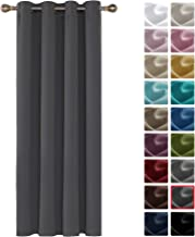 Deconovo Cortinas Dormitorio Moderno Blackout Curtain Suave para Ventanas de Habitación Juvenil con Ojales 1 Pieza 140 x 260 cm Gris Oscuro