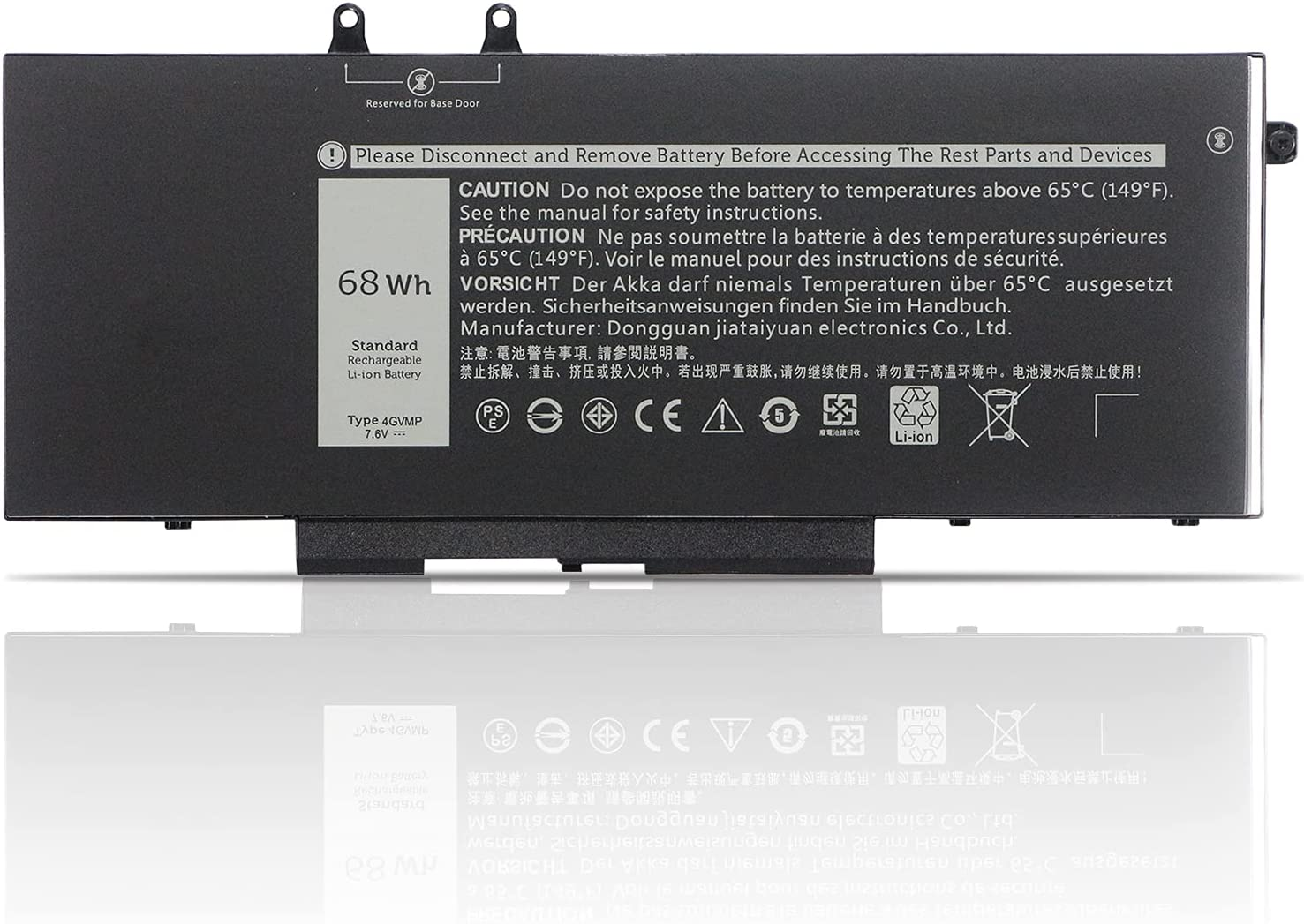 K KYUER 68Wh 4GVMP Laptop Batería Repuesto para Dell Latitude 5400 E5400 5410 E5410 5500 E5500 5510 E5510 Precision 3540 M3540 3550 M3550 Inspiron 7590 7591 7791 2-in-1 Series 1V1XF R8D7N 04GVMP 7.6V