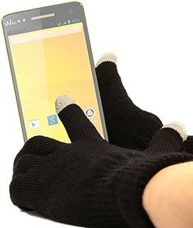 DURAGADGET Unisex Black Touch Screen Gloves (Medium) - Suitable for Wiko Rainbow/Barry/Getaway/Highway/Bloom