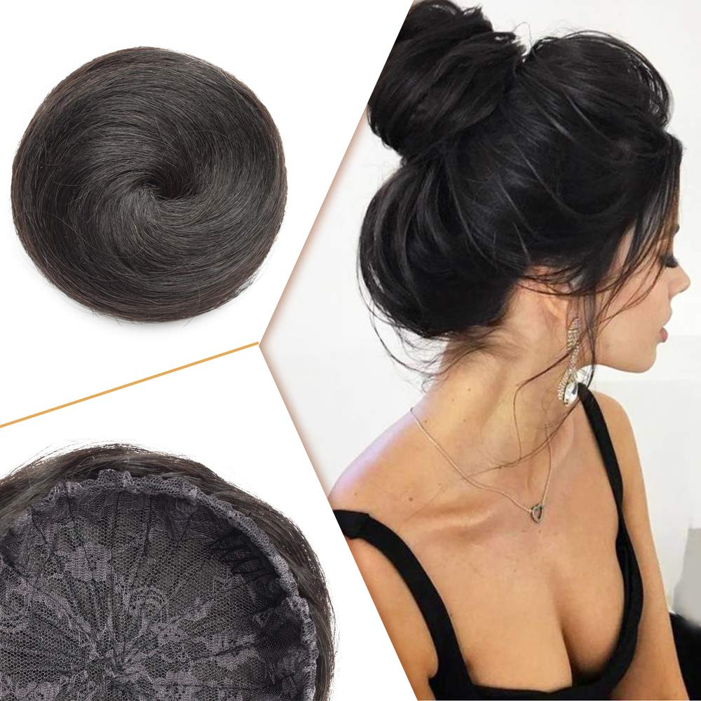 Human Hair Bun Extensions Hairpiece Ranking Sale SALE% OFF TOP2 Drawstring Straight for