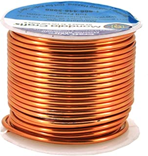 Mandala Crafts Anodized Aluminum Wire for Sculpting, Armature, Jewelry Making, Gem Metal Wrap, Garden, Colored and Soft, 1 Roll(12 Gauge, Copper Tone)
