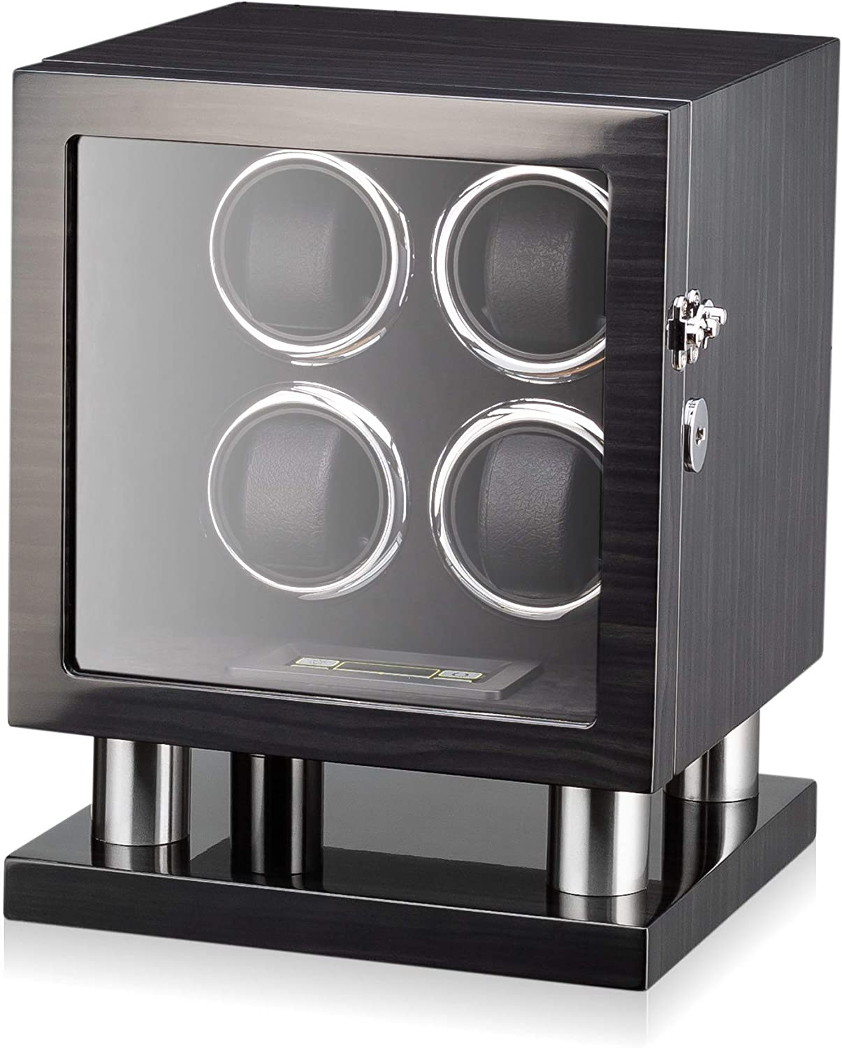 Super beauty product restock quality top Watch Winder for 4 outlet Watches with LED Backlight M Display LCD and