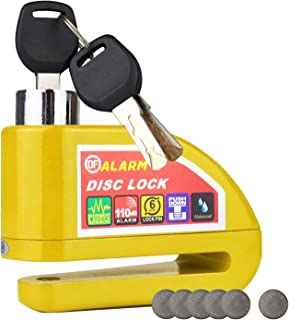 HMF 3510 motorslot, remschijfslot, alarmfunctie, 110 db, 9 x 7 x 3,5 cm, verschillende kleuren gelb geel