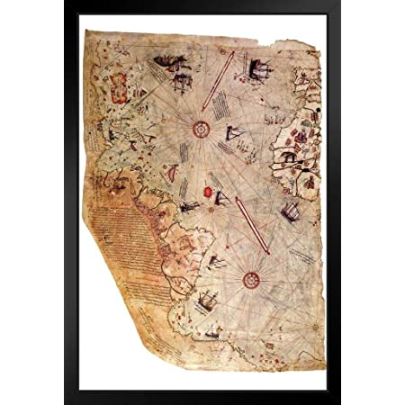 Piri Reis Map Of The River Nile From Its Estuary South Canvas Wall Art Print