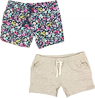 Carter's Girls Two-Piece Shorts (Grey/Strawberry, 4T)