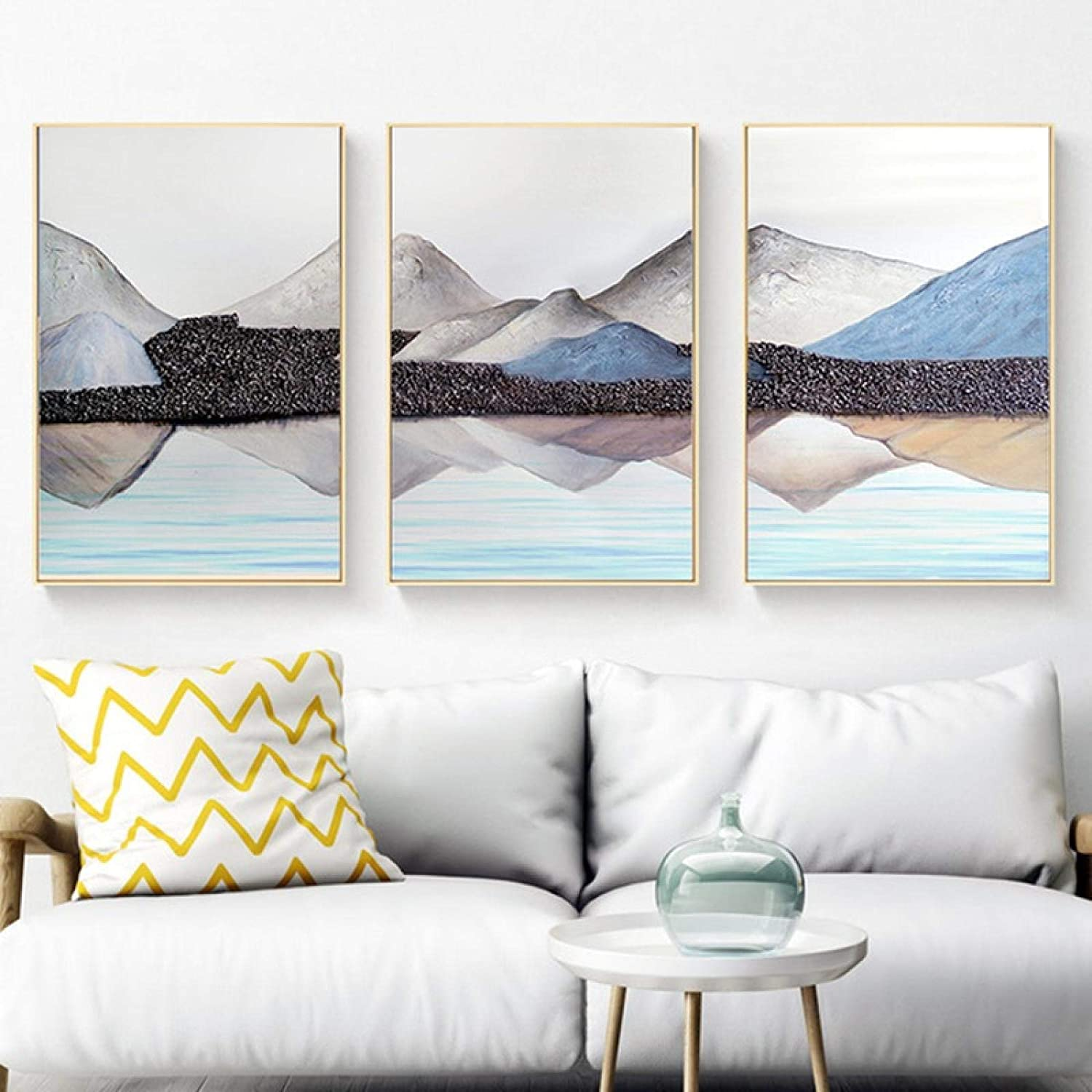 Mountain Lake Landscape Picture Home Abstract Canvas Brand New sales new Painting Sc