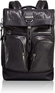 TUMI - Alpha Bravo London Roll Top Leather Laptop Backpack - 15 Inch Computer Bag for Men and Women - Black