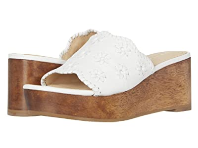 Jack Rogers Rory Wedge (White) Women