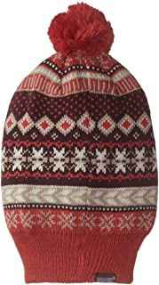 Muk Luks Women's Reversible Hat with Pom-Pom