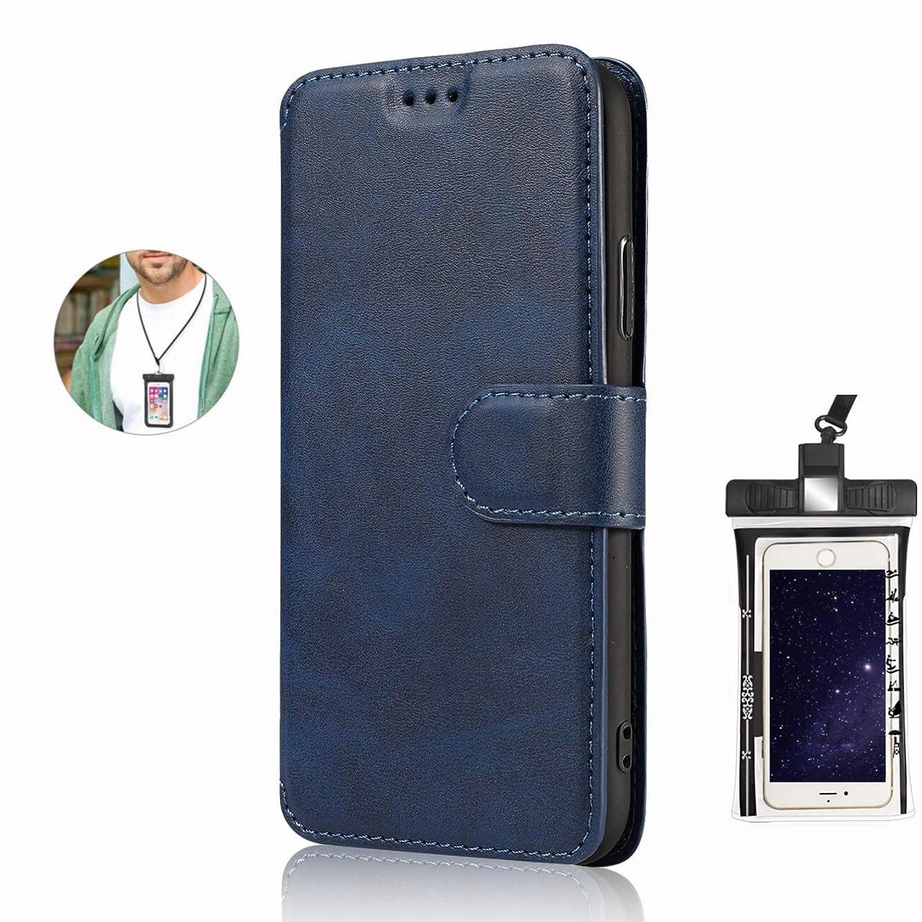 理解エンディング今晩手帳型 iPhone 11 ケース アイフォン 手帳型 本革 レザーケース 財布型 カード収納 マグネット式 保護ケース 軽量 スマホケース スマートフォンケース アイフォン [無料付防水ポーチ水泳など適用]