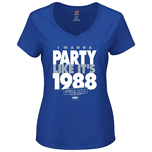 d6a78828 Smack Apparel LA Baseball Fans. I Wanna Party Like It's 1988. Royal Blue  Ladies