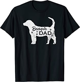 Vintage Beagle Dad Funny Dog Lover Gift For Papa, Father T-Shirt