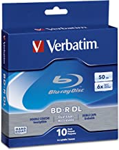 Verbatim BD-R 50GB 6X Blu-ray Recordable Media Disc - 10 Pack Spindle