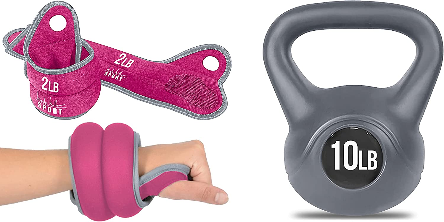 Nicole Miller Max 58% OFF Wrist Weight Sets Weights Thumblock El Paso Mall Hand for