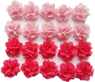 YYCRAFT Pack of 30 Cute Mini Chiffon Flower 1
