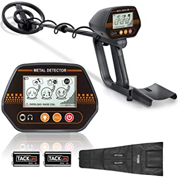 "Metal Detector, 3 Modes Adjustable Detectors (24""-45"") with Larger Back-lit LCD Display, 3 Audio Tone & DISC Mode - Carrying Bag and Batteries Included, Easy to Operate for Adults and Kids"