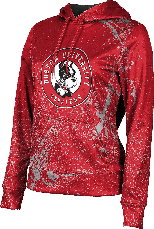 ProSphere Boston University Girls' Pullover Hoodie, School Spirit Sweatshirt (Splatter)