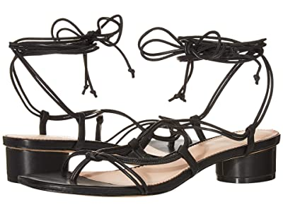 J.Crew Leather Lace-Up Strappy Alyssa Sandal (Black) Women