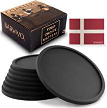 Coasters Barvivo Drink مجموعه ای از 8 - پوشش محافظ روی میز برای هر نوع جدول، چوب، گرانیت، شیشه، صابون، ماسه سنگ، سنگ مرمر، جداول سنگ - Coaster نرم افزاری مناسب برای هر عینک آشامیدنی.