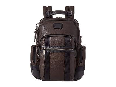 Tumi Alpha Bravo Nathan Backpack (Dark Brown) Backpack Bags