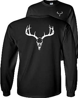 European Mount Skull Deer Hunting Long Sleeve T-Shirt
