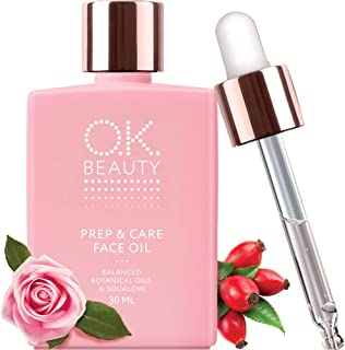 Skin Glow Face Oil Serum Primer Moisturizer Drops – Best Organic Rose Rosehip Treatment for Women, Vitamin C & E Prep Skin Care Serum - OK Beauty