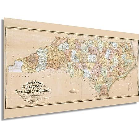 1960s North Carolina State Map Vintage Atlas