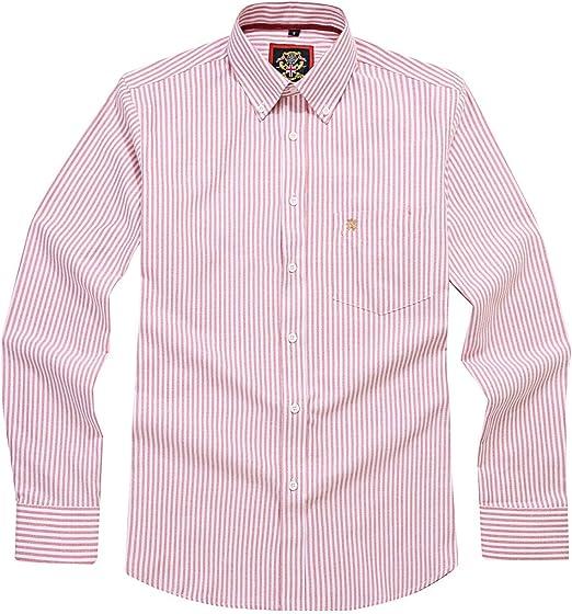 Camisa de Manga Larga para Hombre, Cuello y Bolsillo con ...