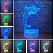 Gifts for Your Boyfriend Dolphin Kids Bedside Lamp with Home Decoration