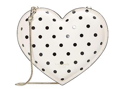 Kate Spade New York 3-D Cabana Dot Heart Heart Crossbody (Parchment) Handbags