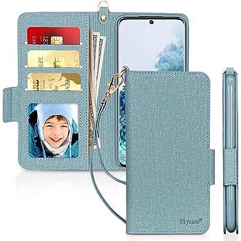 "Skycase Galaxy S20 Case 5G 6.2"", Samsung Galaxy S20 Wallet Case,[RFID Blocking] Handmade Flip Folio Wallet Case with Card Slots and Detachable Hand Strap for Samsung Galaxy S20 6.2"" 2020,Green"