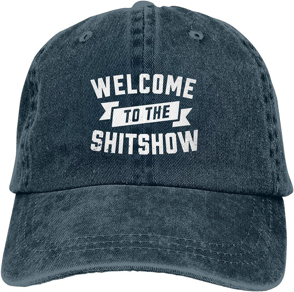 Welcome to The Shitshow Cowboy Hat Unisex Adjustables Denim Sport Hat