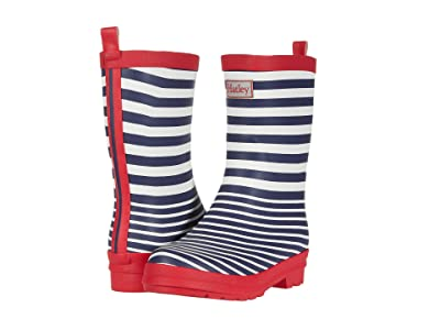 Hatley Kids Nautical Stripe Matte Rain Boots (Toddler/Little Kid) (Blue) Kids Shoes
