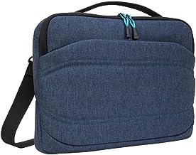 Targus Groove X2 schmale Tasche, vielseitige Laptoptasche 15 Zoll, wasserabweisende Umhängetasche für Notebooks, ideal für Uni und Büro – Marineblau, TSS97801GL