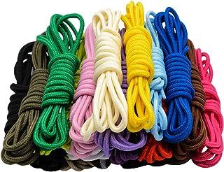 20 pares de cordones redondos surtidos de color de 5 mm de ancho cordones de zapatos para zapatillas de deporte Botas de patín de senderismo deportivo zapatos deportivos