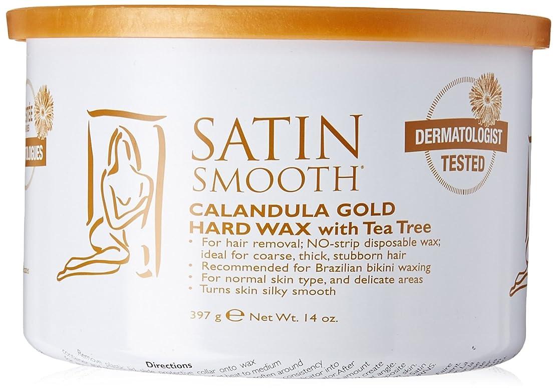 舌実行可能叱るSatin Smooth Calendula Gold Hard Wax With Tea Tree Oil (並行輸入品)