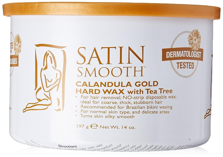 チョップカイウス発送Satin Smooth Calendula Gold Hard Wax With Tea Tree Oil (並行輸入品)