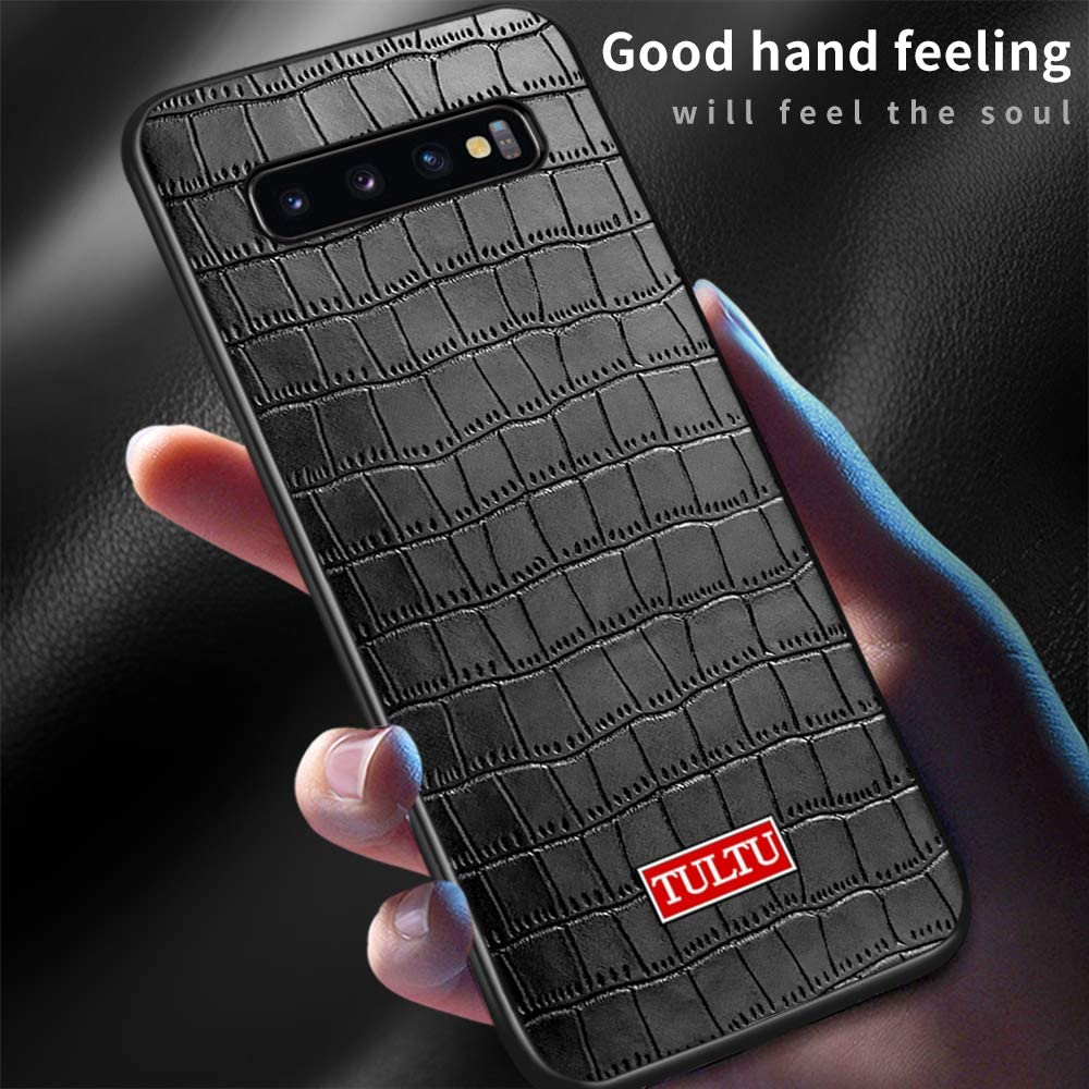 Gittos Leather case is Suitable for Samsung Galaxy S10 Plus Mobile Phone case, [2 x Screen Protector] [Enhanced Drop Protection] [Impact Resistance] [Scratch Resistance] Galaxy S10+ case