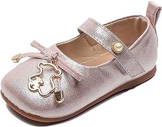 Enfants Tout Petits Chaussures Semelle Souple Bout Rond Couleur Unie décontracté Mary Jane Appartements Fille léger antidé...