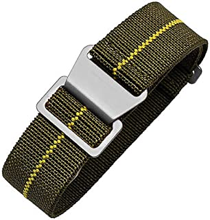 Man's French Troops Military Parachute Watchband Special Elastic Fabric Nylon Canvas NATO Strap Hook Buckle 20/22mm