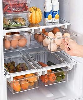 Boîte de rangement pour réfrigérateur – Boîte de rangement transparente pour aliments frais en plastique, rangement cuisin...