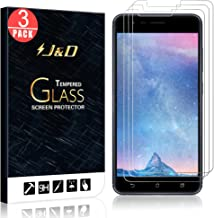 J&D Compatible for 3-Pack ZenFone 3 Zoom Glass Screen Protector, [Tempered Glass] [Not Full Coverage] HD Clear Ballistic Glass Screen Protector for ASUS ZenFone 3 Zoom Screen Protector
