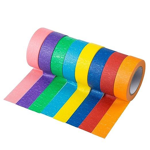 41 opinioni per qiaoyosh nastro adesivo colorato, set di nastri adesivi colorati per pittori per