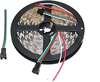 Lighting-Source Sk6812 RGB Dream Color Led Strip Light 5Meter 60Led/m Not Waterproof IP30 DC5V White PCB Plate