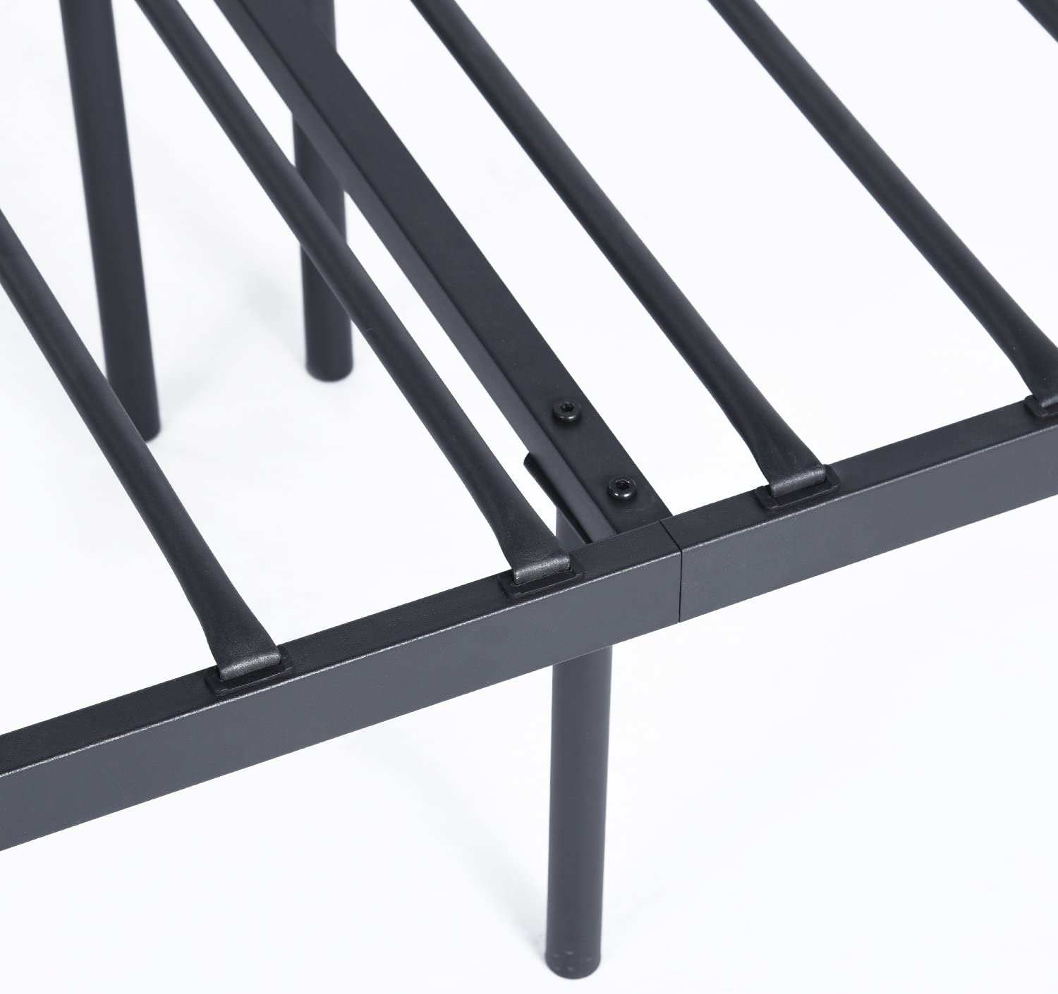 Furniture R 14 Inch Classic Metal Platform Bed Daybed Frame with Steel Slat Support//Mattress Foundation Balck