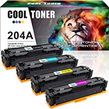 Cool Toner Compatible Toner Cartridge Replacement for HP 204A CF510A CF511A CF512A CF513A for HP Color LaserJet Pro MFP M180nw M180n M181fw M181 M154nw M154a Printer Toner (Black Cyan Yellow Magenta)