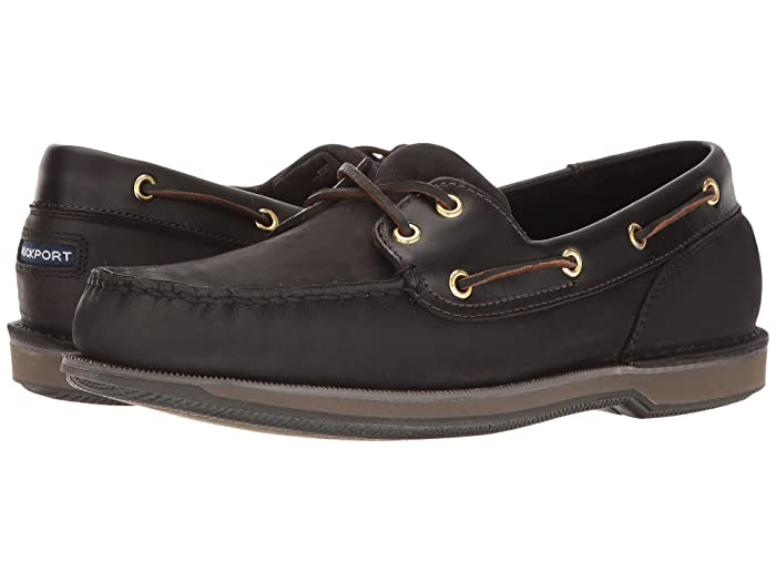 Rockport  Ports of Call Perth (Black/Bark) Mens Lace up casual Shoes
