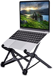 Laptop Stand, Tendak Portable Computer Stand Adjustable Foldable Travel Notebook Holder Mount Desktop Space-Saving with Co...