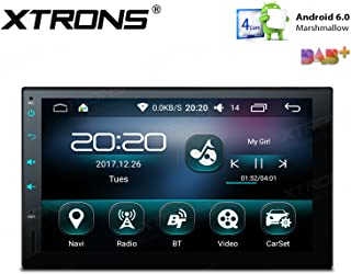 XTRONS 7 Inch Quad-Core 16G ROM Android 6.0 HD Capacitive Touch Screen Car Stereo Radio Player GPS Wifi OBD2 Screen Mirroring
